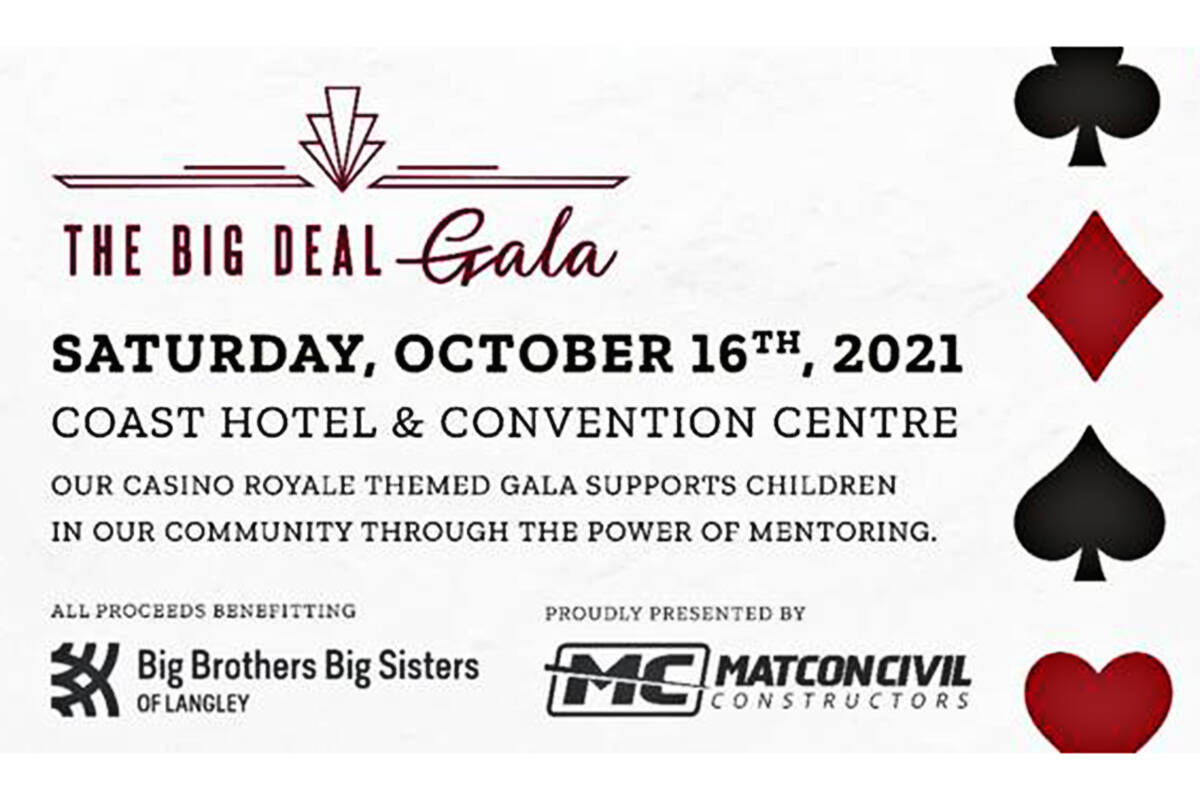 A local child-mentoring organization is hosting a gala this autumn. (Big Brothers Big Sisters of Langley)