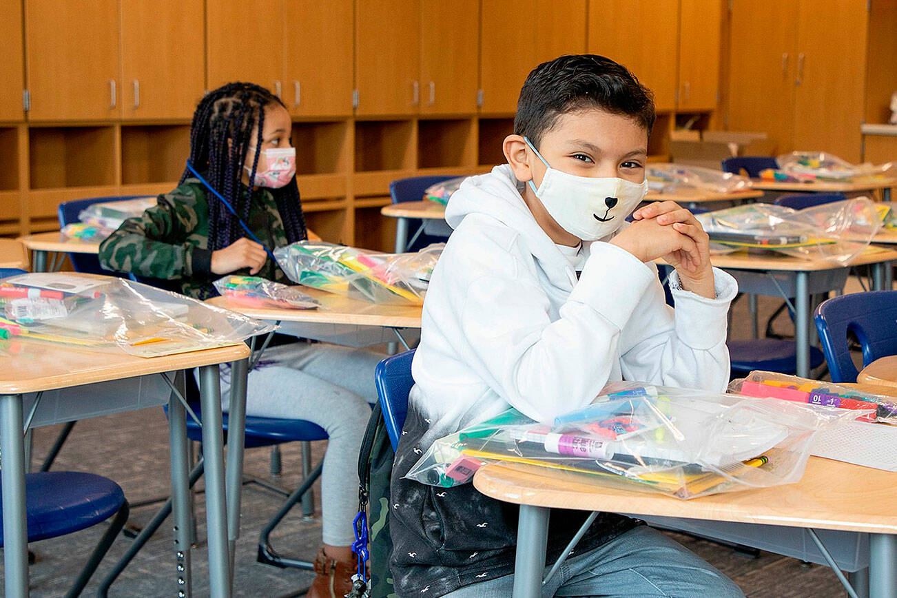A majority of parents are comfortable sending their kids back to school for in-class learning according to a new Angus Reid survey.(Black Press file photo).