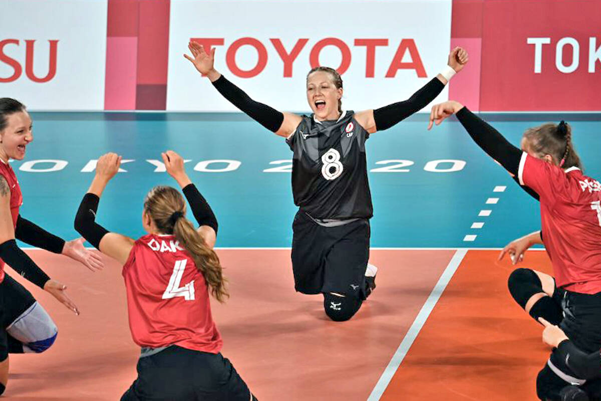 Danielle Ellis and Team Canada made it all the way to a medal match in seated volleyball at the Tokyo Paralympics. (Canadian Paralympic Committee photo)