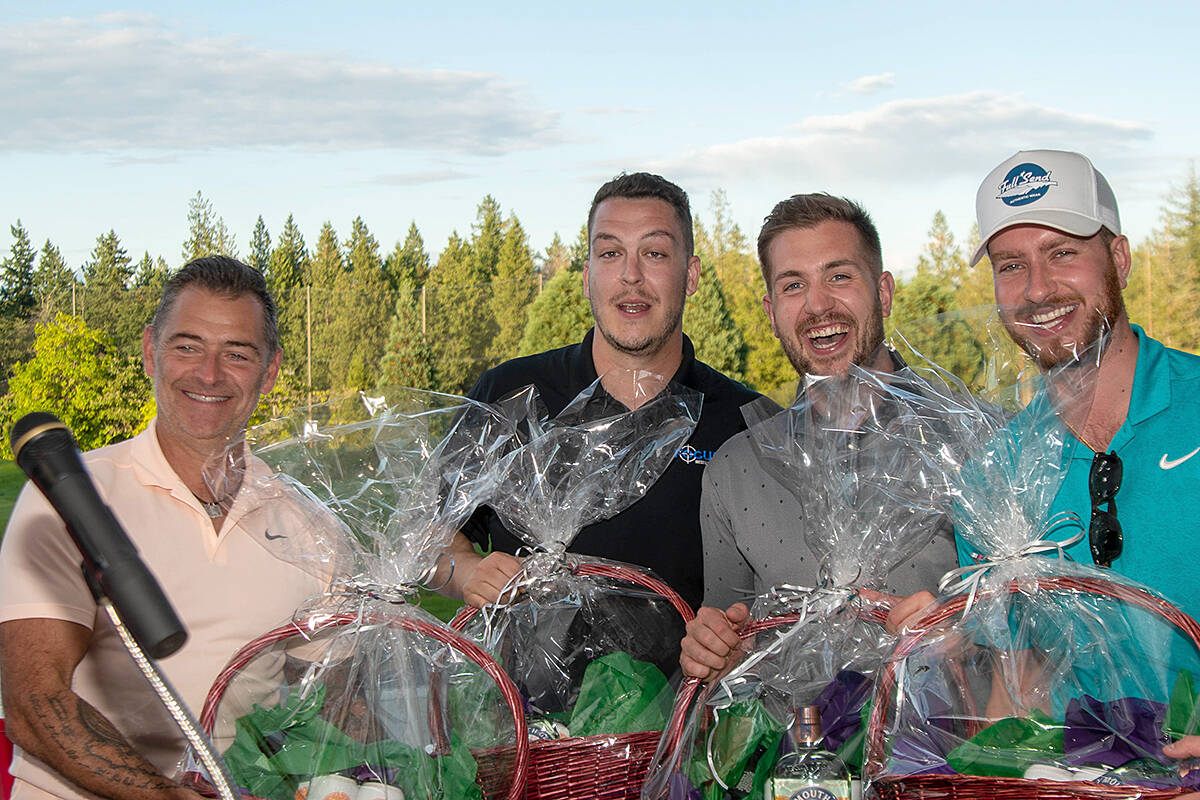 Focus West Logistics walked away as the winners at the 35th annual Greater Langley Chamber of Commerce golf tournament this past week at Redwoods – a near-sell-out event. (Special to Langley Advance Times)