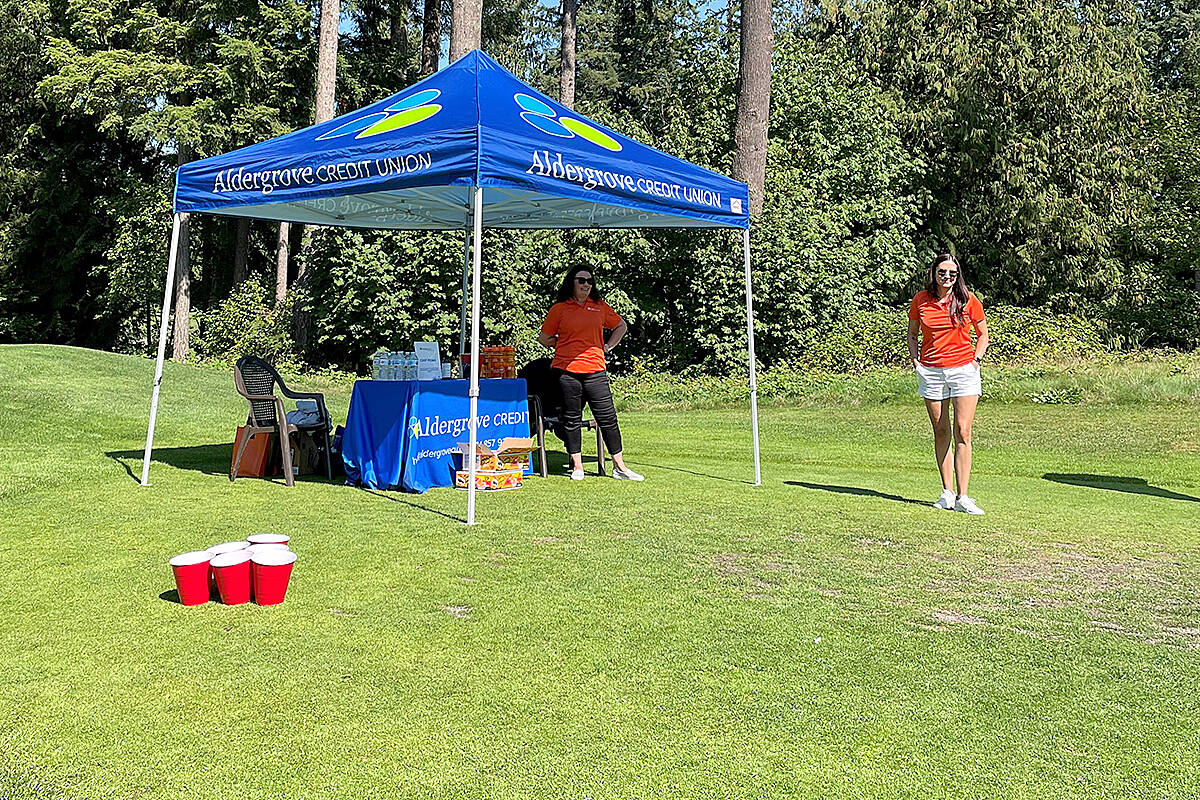 Sponsors were imperative to the success of the 35th annual Greater Langley Chamber of Commerce golf tournament this past week at Redwoods – a near-sell-out event. (Special to Langley Advance Times)