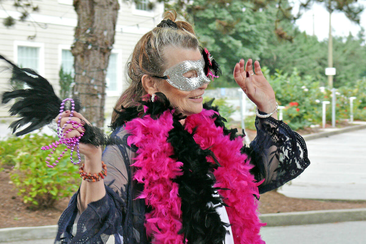 Odlum Brown Fort Langley Jazz & Arts Festival held its traditional New Orleans style Mardi Gras parade through Fort Langley on Saturday, Sept. 4. (Dan Ferguson/Langley Advance Times)