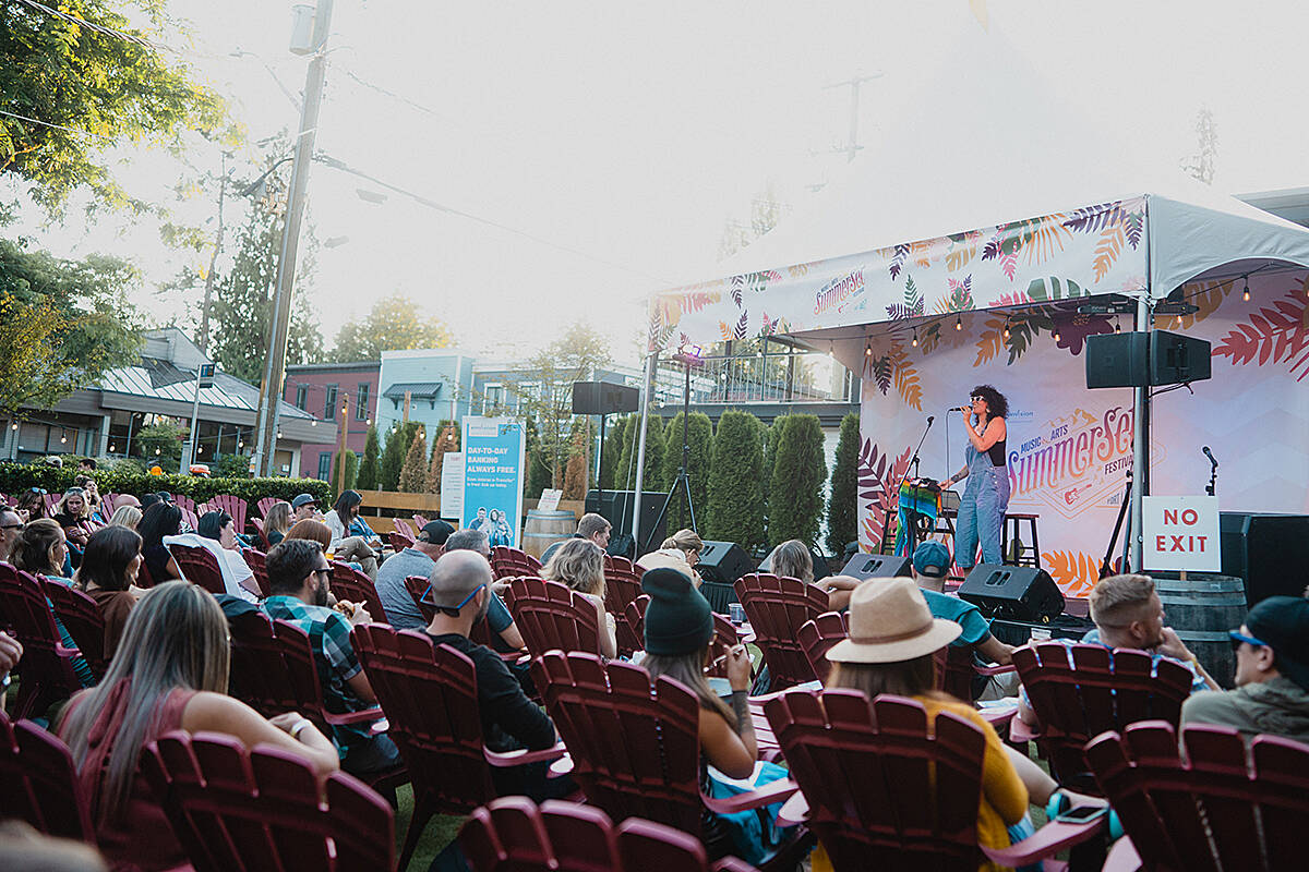 Summerset Nights, a scaled back version of the Fort Langley music festival, was held at Trading Post with live evening performances held Aug. 27 to 29. (Lindsey Blane/Special to Langley Advance Times)