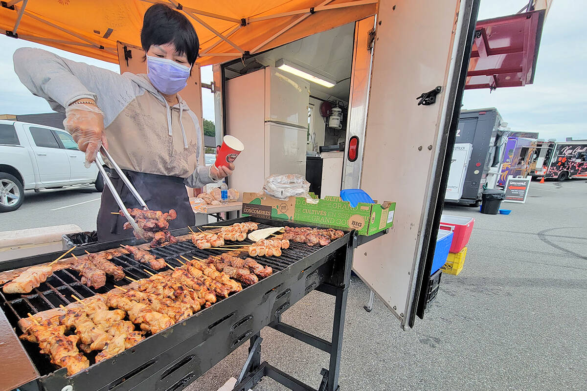 One of the vendors at the Langley Food Truck Festival on Saturday, Sept. 4. (Dan Ferguson/Langley Advance Times)
