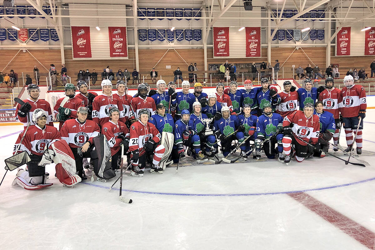 Team Howe and Team Quinn played for the Legends Cup at the Langley-based Vancouver Giants 2021 Chevrolet Training Camp Monday, Sept. 6, at the Ladner Leisure Centre. (Special to Langley Advance Times)