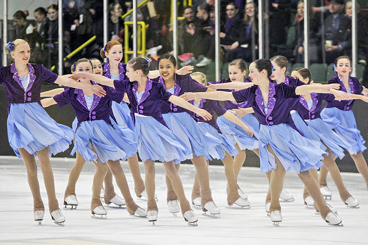 Members of the Aldergrove Skate Club competed at the 2015 Skate Canada Regional Synchronized Skating Championships at George Preston Arena. (Langley Advance Times file)