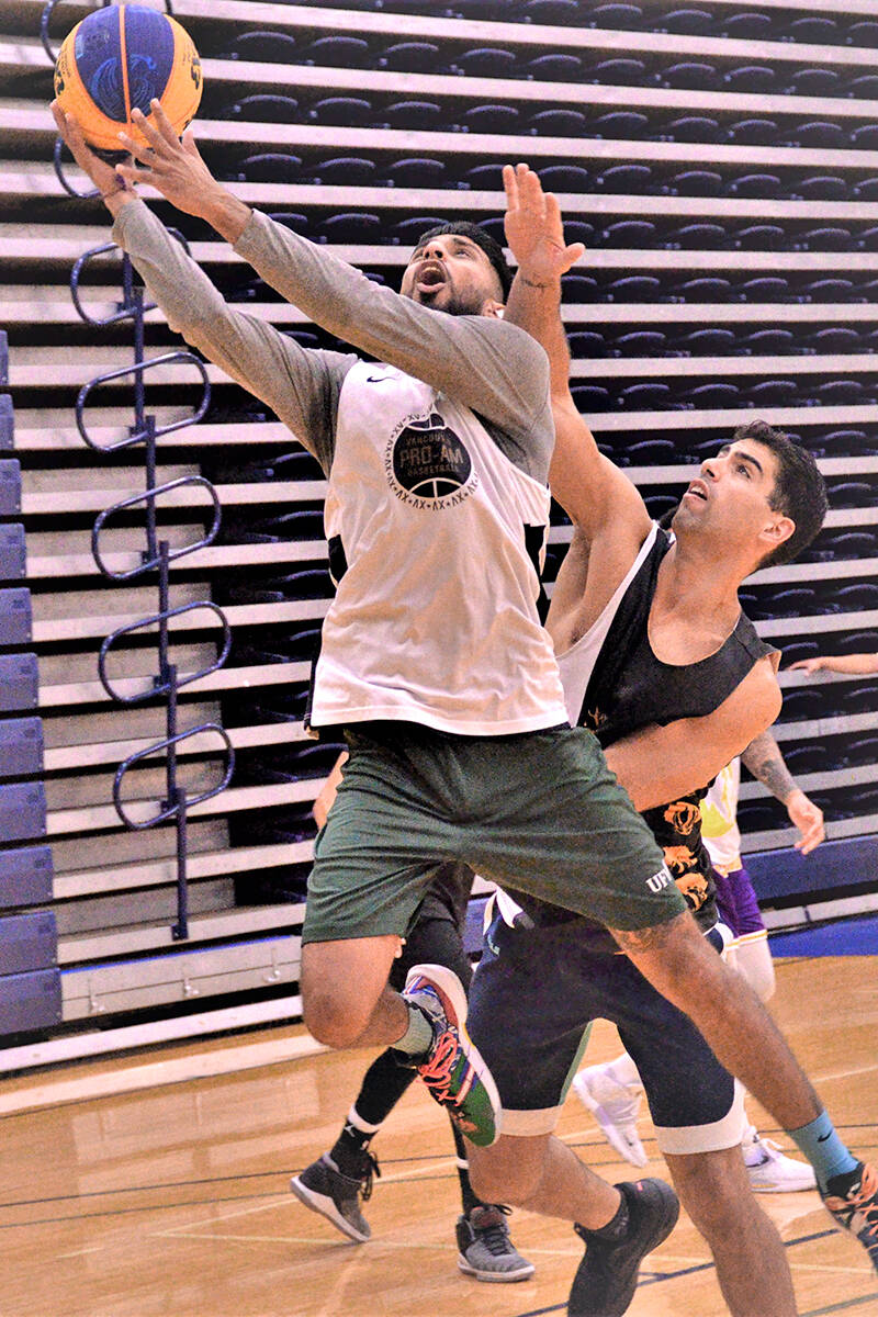 Eighty teams in nine divisions battled on the hardwood over two days as Langley Events Centre played host to the 2021 Summer Slam 3x3 basketball tournament. (Gary Ahuja/Langley Events Centre)