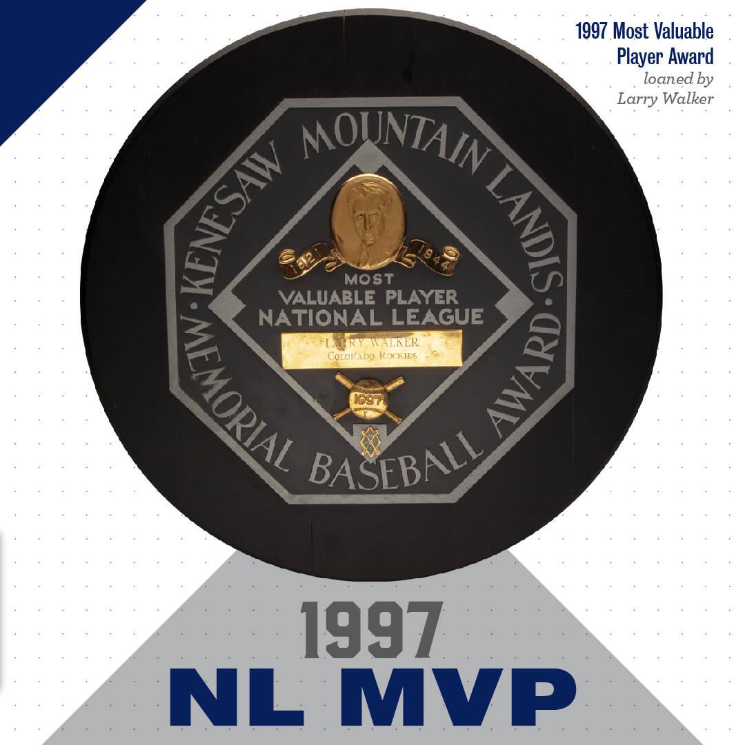 NL MVP award (National Baseball Hall of Fame and Museum Facebook)