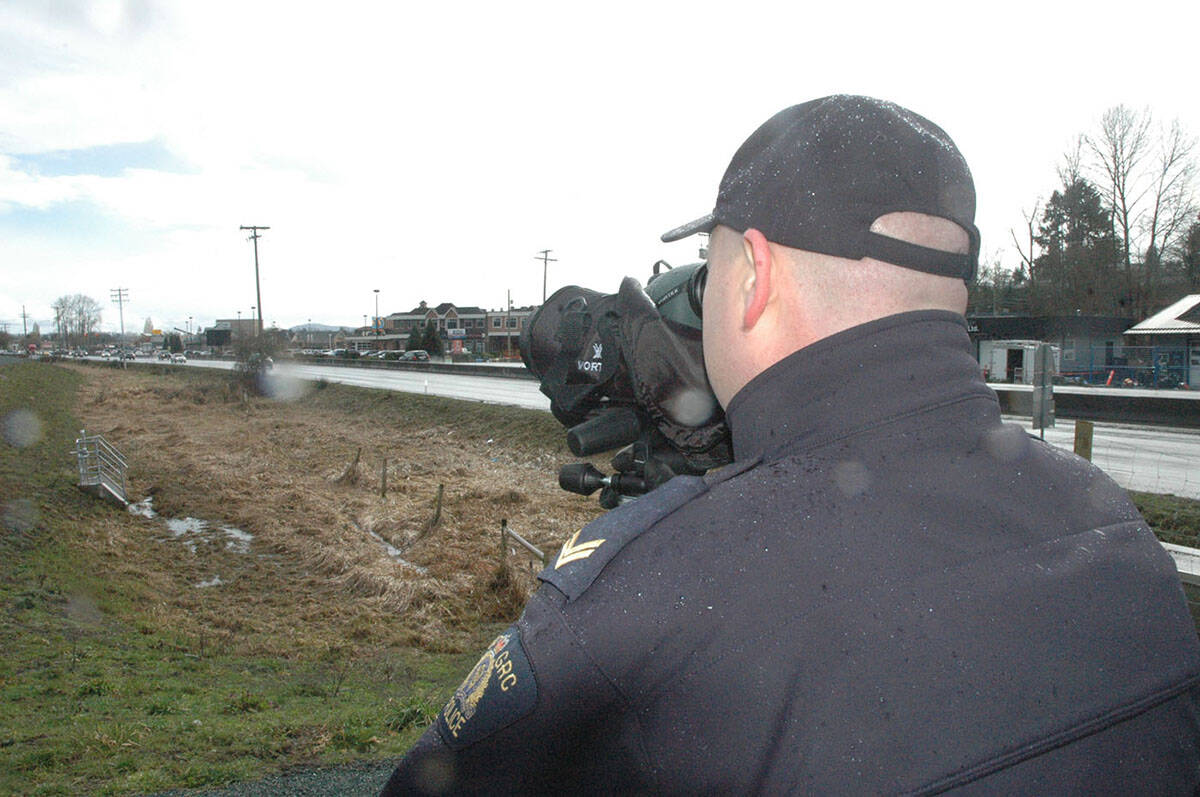The B.C. Highway Patrol division of the RCMP will be on the lookout for distracted drivers this month, as enforcement ramps up. (Black Press Media file photo)