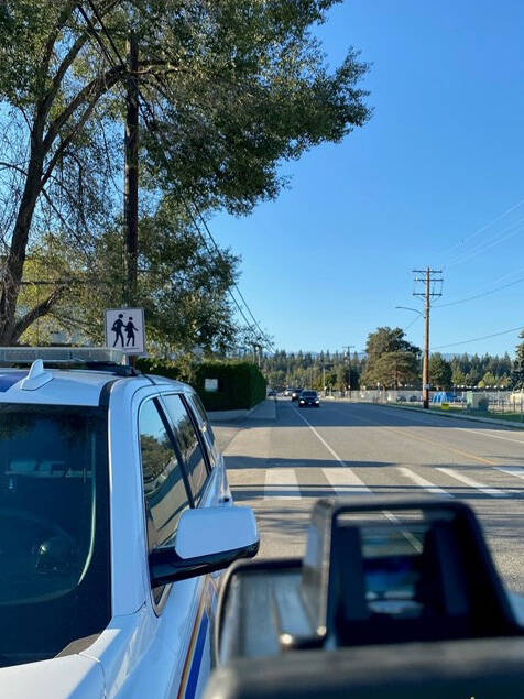 RCMP file photo of speed radar at a school zone.