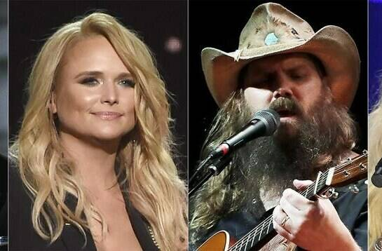 This combination of photos shows nominees for the CMA Award for entertainer of the year, from left, Eric Church, Luke Combs, Miranda Lambert, Chris Stapleton and Carrie Underwood. (AP Photo)