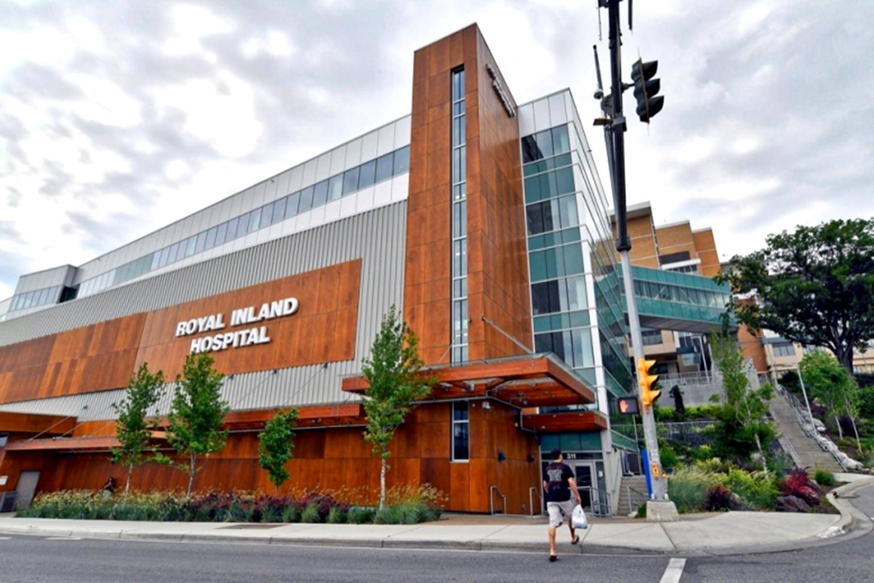 Royal Inland Hospital is in downtown Kamloops, at Columbia Street and Third Avenue. (Dave Eagles/Kamloops This Week)