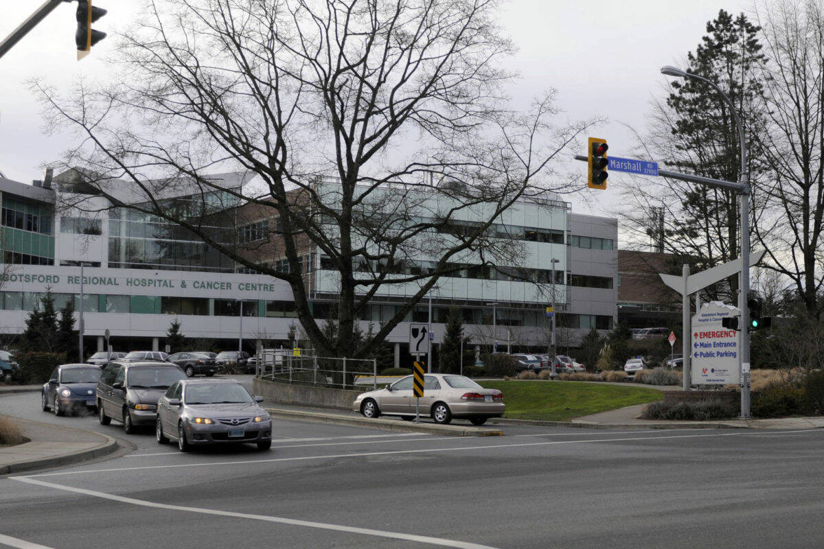 Abbotsford Regional Hospital is among those restricting scheduled surgeries to deal with COVID-19 cases. (Abbotsford News)