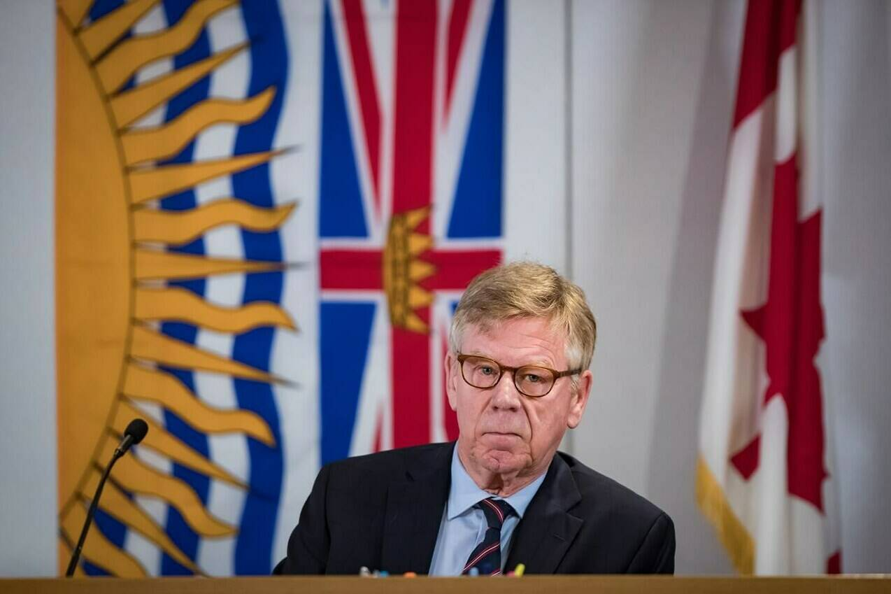 Commissioner Austin Cullen listens to introductions before opening statements at the Cullen Commission of Inquiry into Money Laundering in British Columbia, in Vancouver, on Monday, February 24, 2020. THE CANADIAN PRESS/Darryl Dyck
