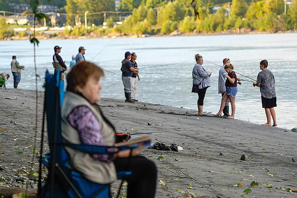 """Derby Reach is the place to be, or so it seems, if you're in to salmon fishing. It's a """"great way to catch your dinner and educate yourself all at the same time,"""" said Lou Fasullo. (Special to Langley Advance Times)"""