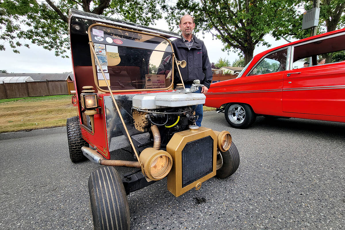 Aldergrove resident Bruce Lowery's unique ride was among a record 1,200 cars on display at the Good Times Cruise-In in Aldergrove on Saturday, Sept. 11. (Dan Ferguson/Langley Advance Times)