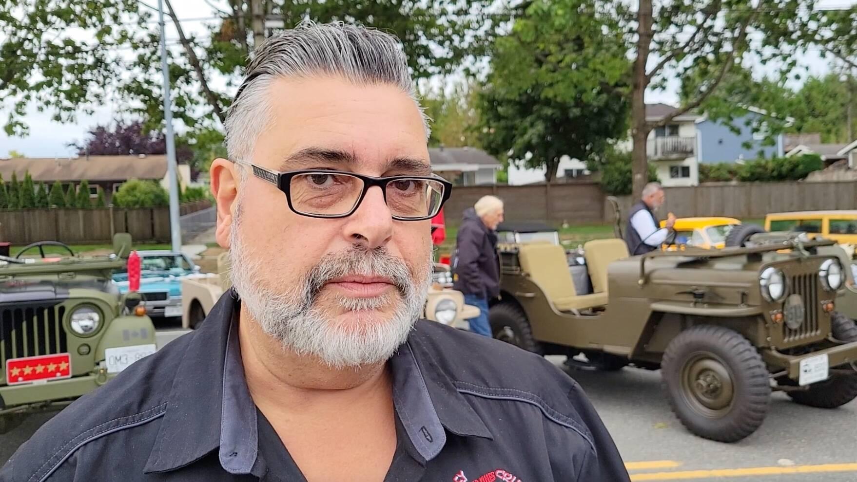 Car show president Riccardo Sestito revealed the Good Times Cruise-In in Aldergrove on Saturday, Sept. 11. wasn't a definite 'go' until a few days ago. (Dan Ferguson/Langley Advance Times)