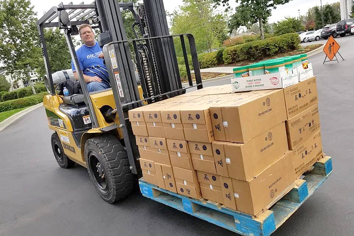 Thousands of pounds of food are collected each year in the BC Thanksgiving Food Drive headed up by the Church of Jesus Christ of Latter-day Saints in Langley. (Special to Black Press Media)