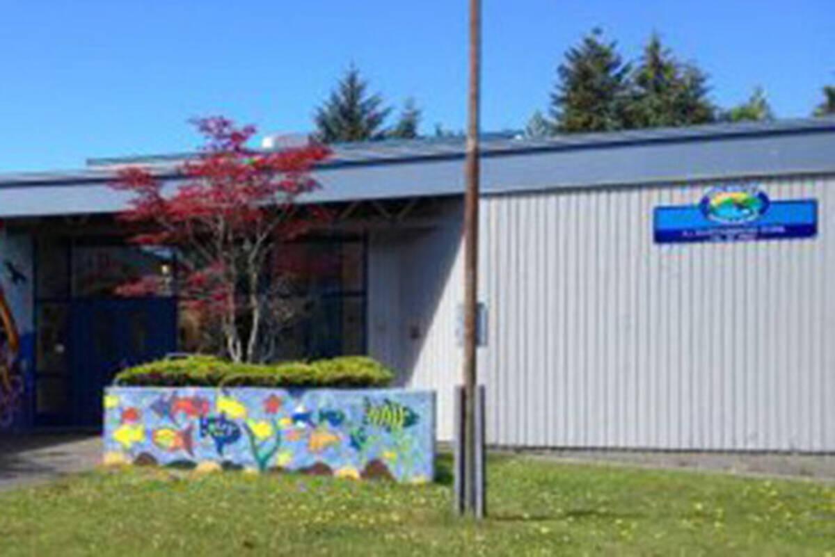 A.J. Elliott Elementary School in Sointula. (SD85.bc.ca photo)