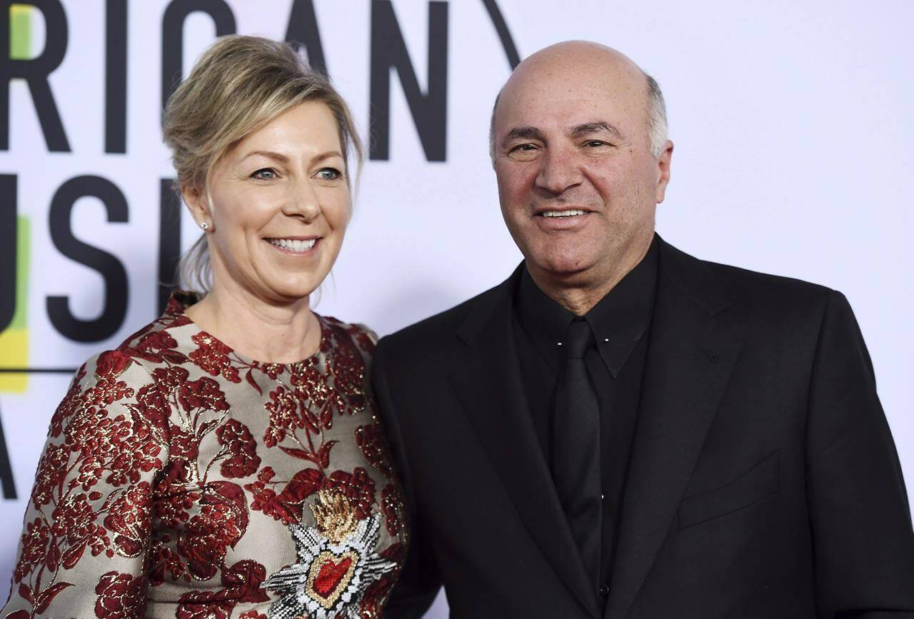 Linda O'Leary and Kevin O'Leary arrive at the American Music Awards at the Microsoft Theater in Los Angeles. A verdict is expected today in the trial of Linda O'Leary, charged in a boat crash that killed two people in central Ontario two years ago. THE CANADIAN PRESS/AP, Jordan Strauss/Invision