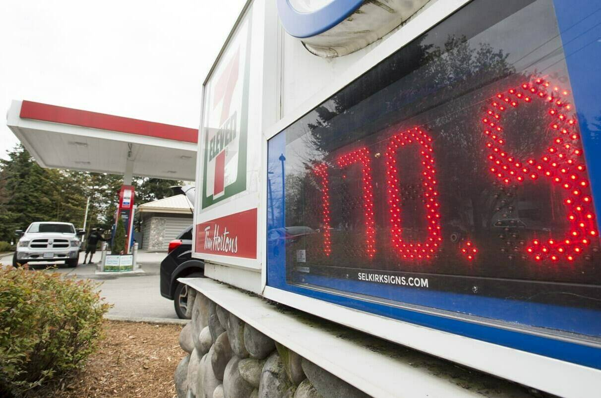 A gas station is pictured in North Vancouver, B.C., Wednesday, Apr 17, 2019. THE CANADIAN PRESS/Jonathan Hayward