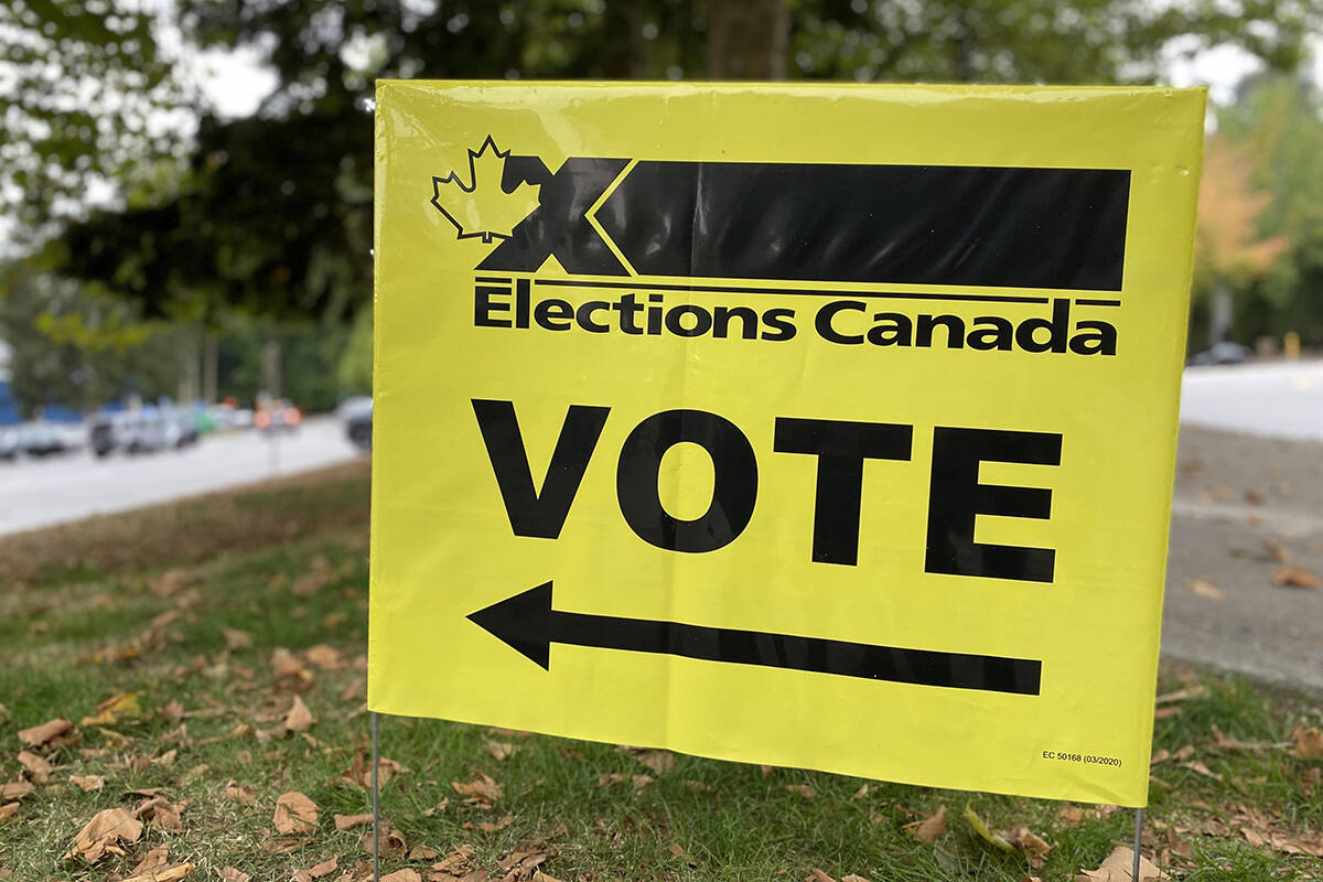 Advance polling numbers are up over the 2019 federal election in the South Surrey-White Rock riding. (Black Press photo)