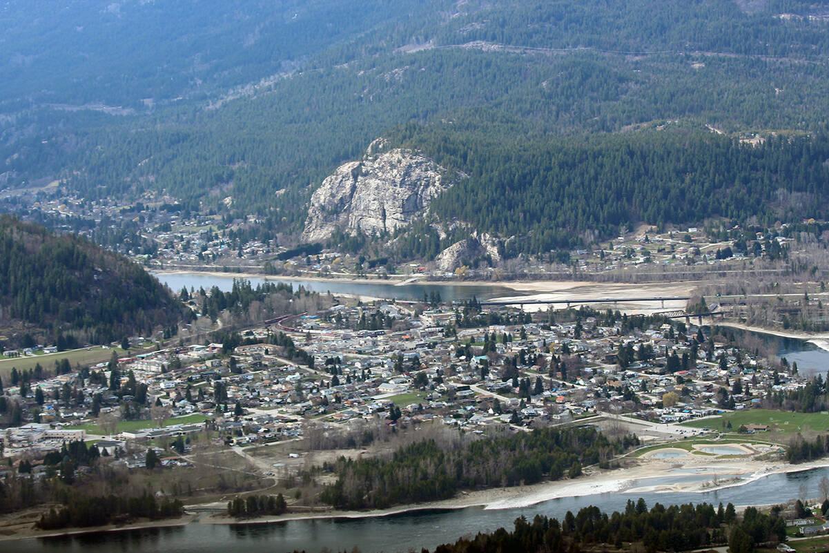 Castlegar from the air. (Photo: Betsy Kline)