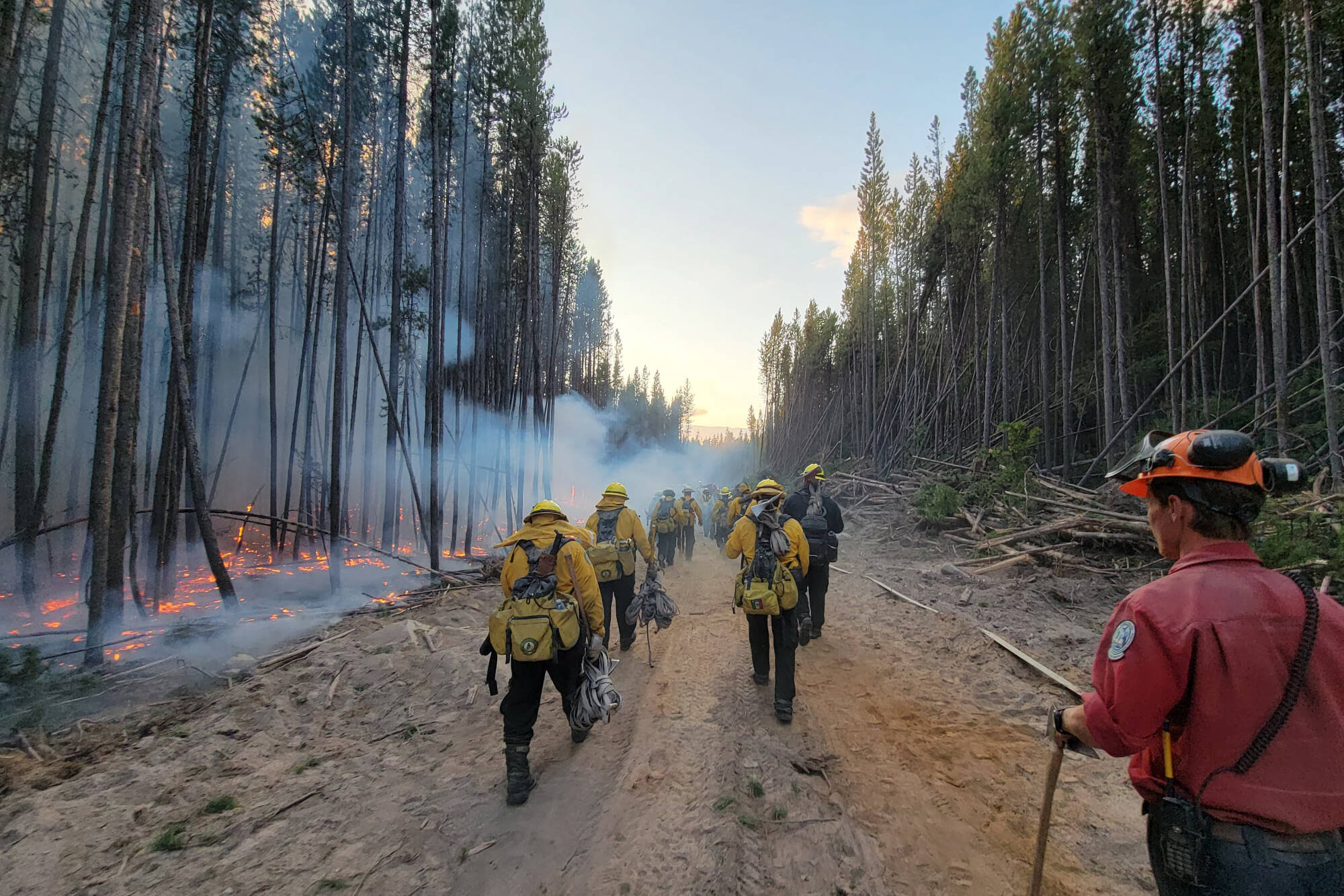Mexican firefighters helping fight Okanagan wildfires this summer. (BC Wildfire)
