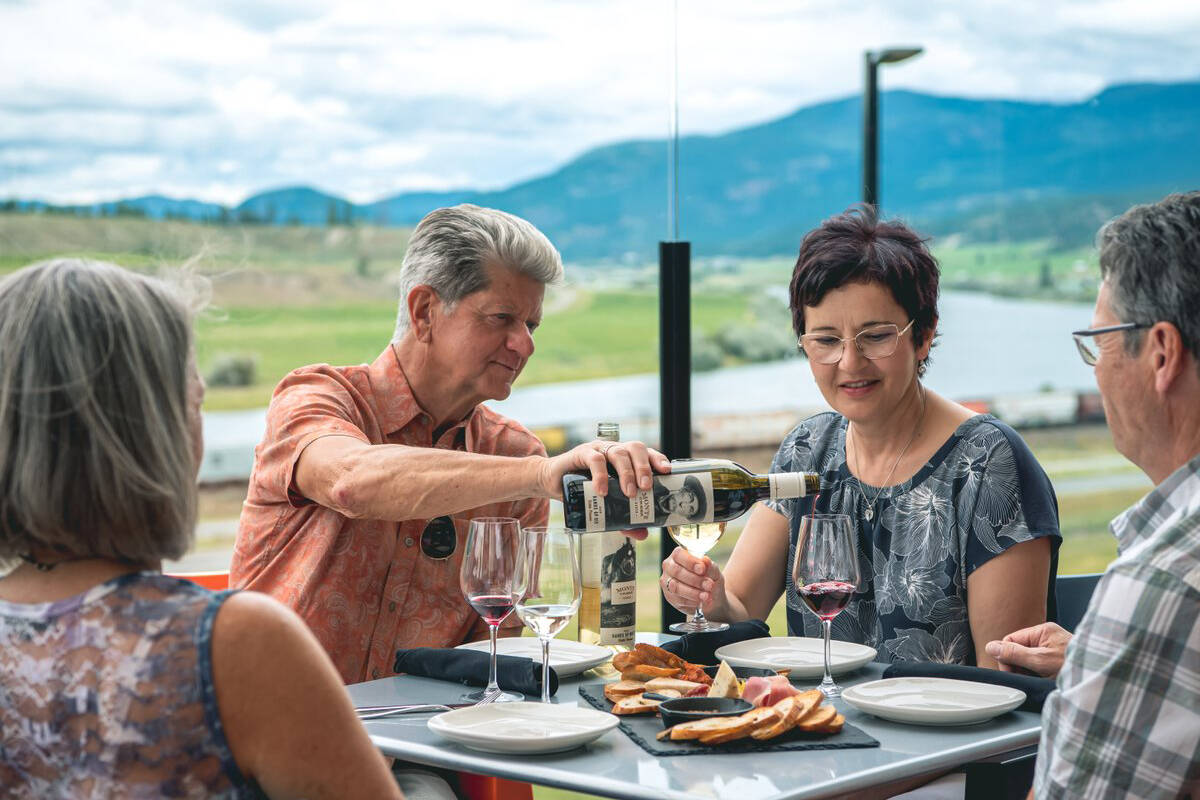 Kamloops has so many great venues for date night, you might have to stay an extra week! Start at Monte Creek Ranch Winery for great views and a delicious meal. Photo: Mary Putnam/Tourism Kamloops