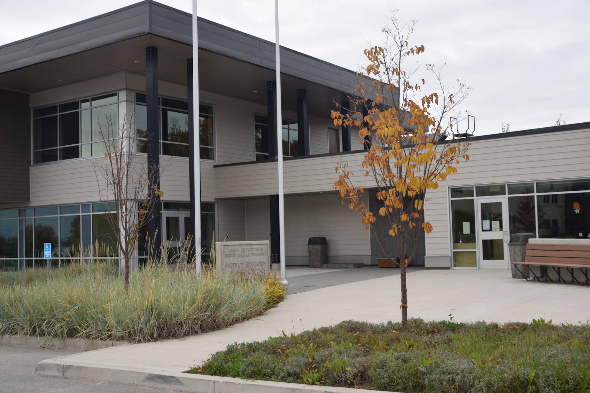 People opposed to vaccinations and masking entered schools in and around Salmon Arm on Sept. 17 They also recently protested at the School District 83 office. (Martha Wickett/Salmon Arm Observer)