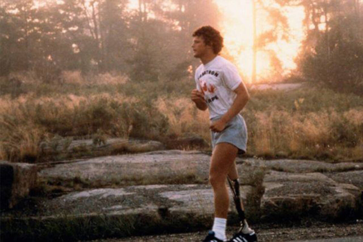 Terry Fox ran an average of 42 km a day for 143 days during the Marathon of Hope in 1980. (terryfox.org)