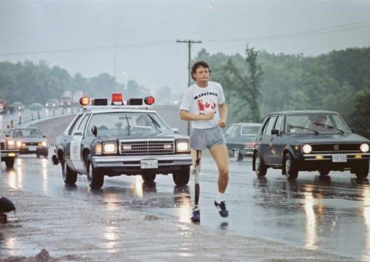 In 1980, Terry Fox ran his Marathon of Hope, inspiring the country. The tradition continues today with the annual Terry Fox Run, held each September. (terryfox.org)