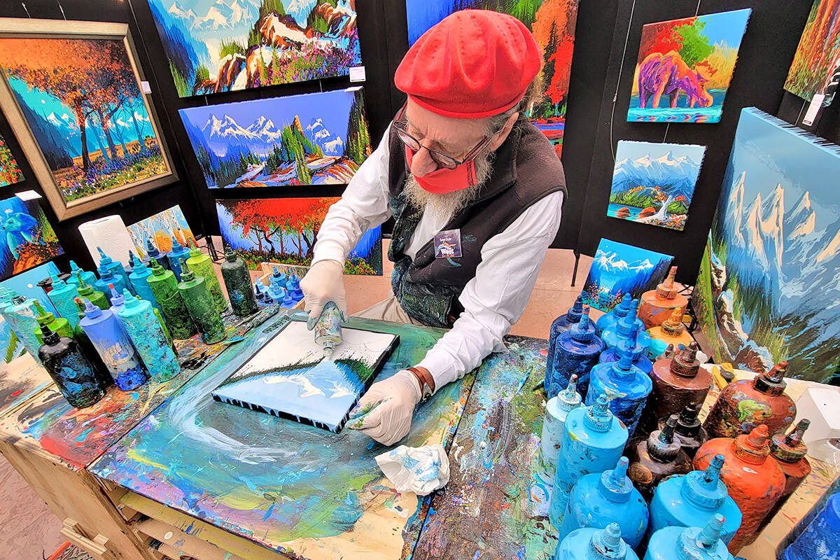 Nineteen artists took part in the West Fine Arts fall exhibition and fundraiser for the Langley Hospice Society at the Glass House Estate Winery in Aldergrove held from Friday, Sept. 17, to Sunday, Sept 19. (Dan Ferguson/Langley Advance Times)