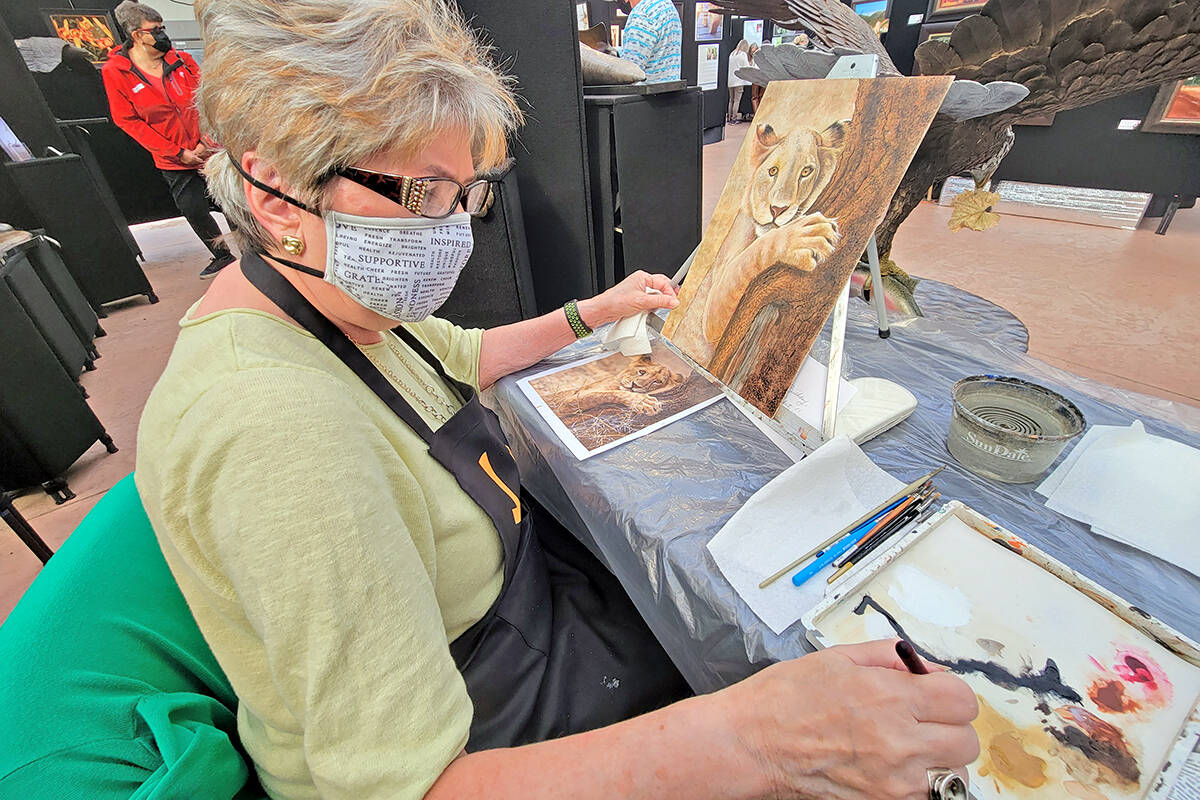 Nineteen artists took part in the West Fine Art Show fall exhibition and fundraiser for the Langley Hospice Society at the Glass House Estate Winery in Aldergrove from Friday, Sept. 17, to Sunday, Sept 19. (Dan Ferguson/Langley Advance Times)