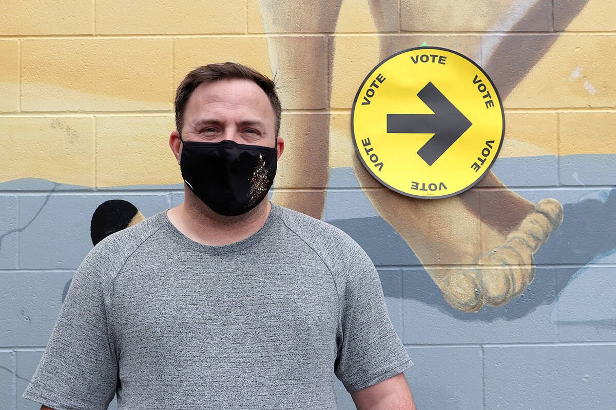 Daniel Zettler said he felt safe voting amid a pandemic as he exited the polling station at Nicomekl Elementary on election day, Monday, Sept. 20, 2021.