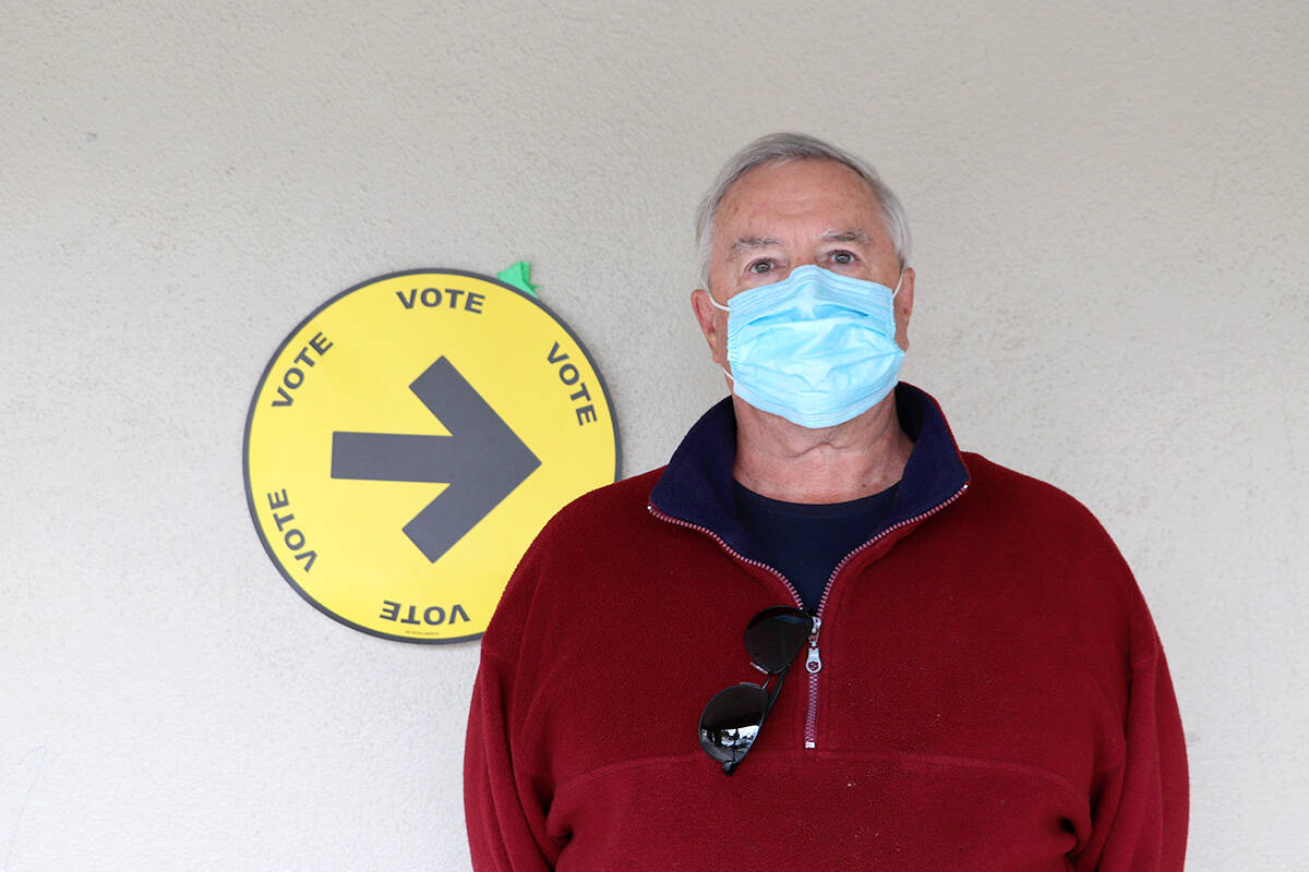 Don Madec said it was his civic duty to cast his ballot on election day Monday, Sept. 20, 2021 but said the election shouldn't have been called during the pandemic.