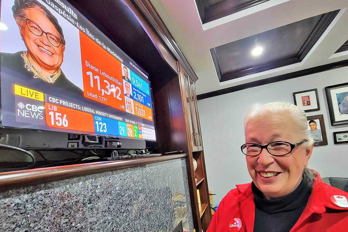 Langley – Aldergrove Liberal challenger Kim Richter was pleased with the national results, but disappointed with the local count, ascribing the outcome to 'progressive' vote splitting. (Dan Ferguson/Langley Advance Times)