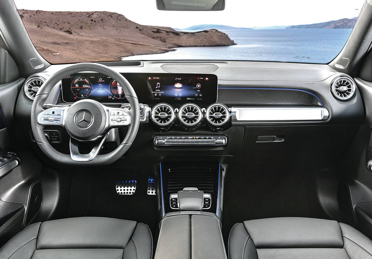 """The optional dash layout with larger screens uses the latest MBUX interface with voice-command tech. Just say """"Hey Mercedes"""" to begin your instructions. PHOTO: MERCEDES-BENZ"""