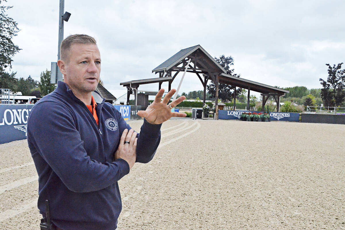 Tbird president Chris Pack said a huge amount of work had to be done to get ready for this weekend's Longines FEI World Cup NAL qualifer. (Matthew Claxton/Langley Advance Times)