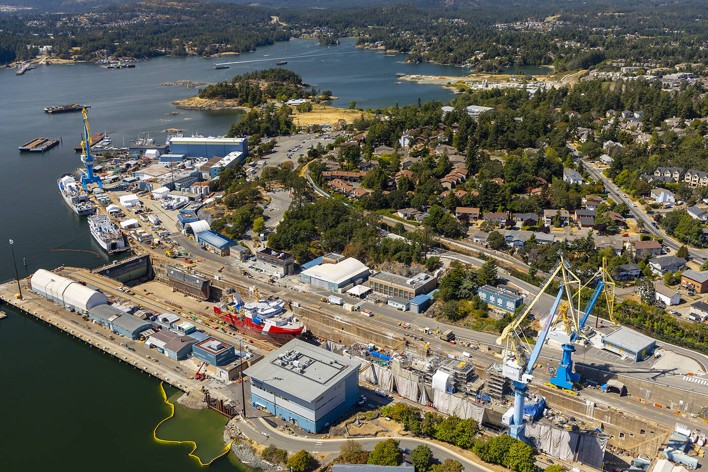 Seaspan's Victoria Shipyards operates within the federally-owned Esquimalt Graving Dock. (Seaspan)