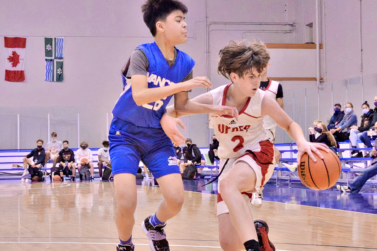 U14 action at the BBall Nationals club basketball championships, held at Langley Events Centre Sept. 16 - 19. (Gary Ahuja/Langley Events Centre)