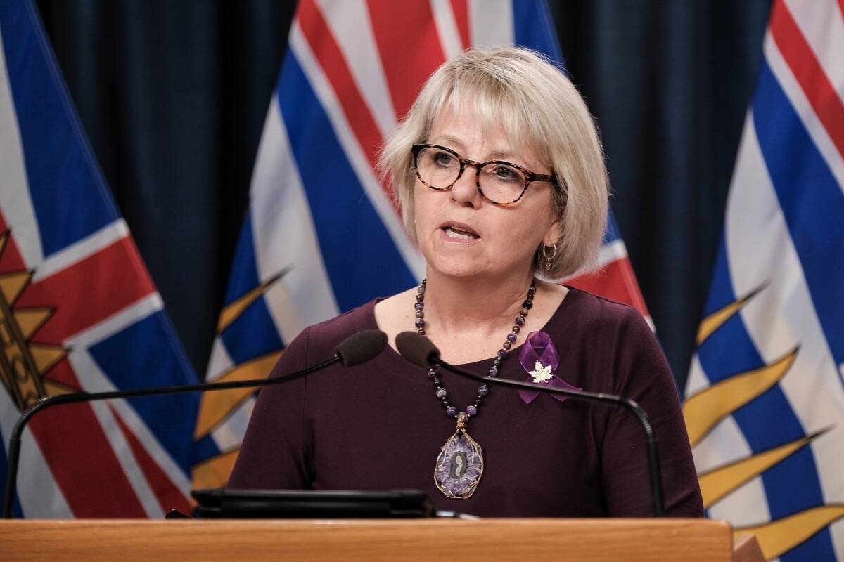 B.C.'s top health officer Dr. Bonnie Henry announces vaccine card access for restaurants, gyms and other non-essential indoor activities, Aug. 23, 2021. (B.C. government photo)