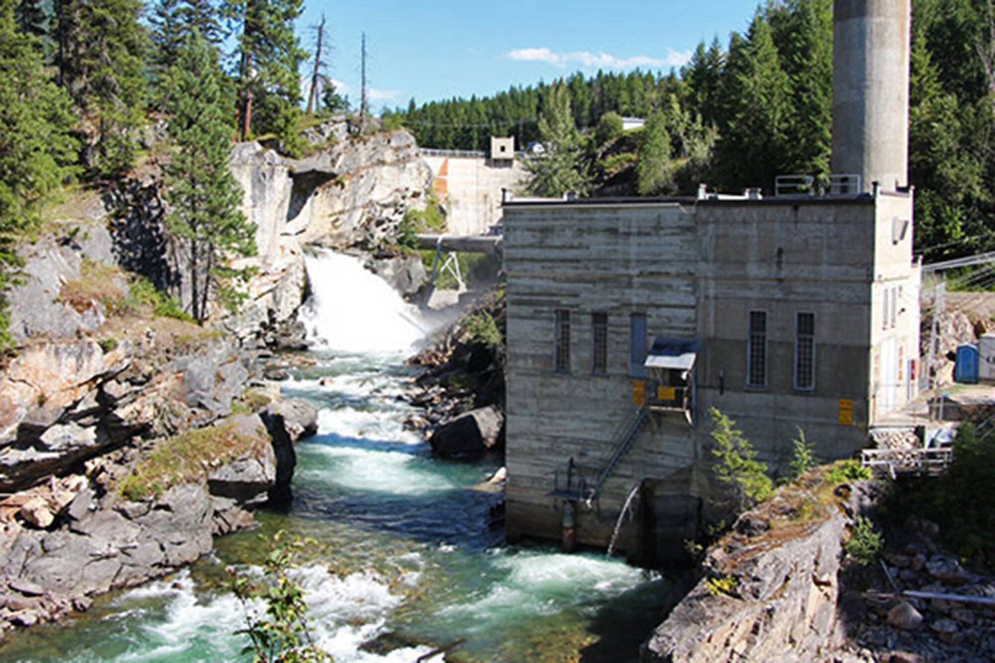 BC Hydro plans to remove the Wilsey Dam and Shuswap Falls Powerhouse along the Shuswap River as part of a restoration project to help salmon access to historical spawning habitat. (BC Hydro photo)
