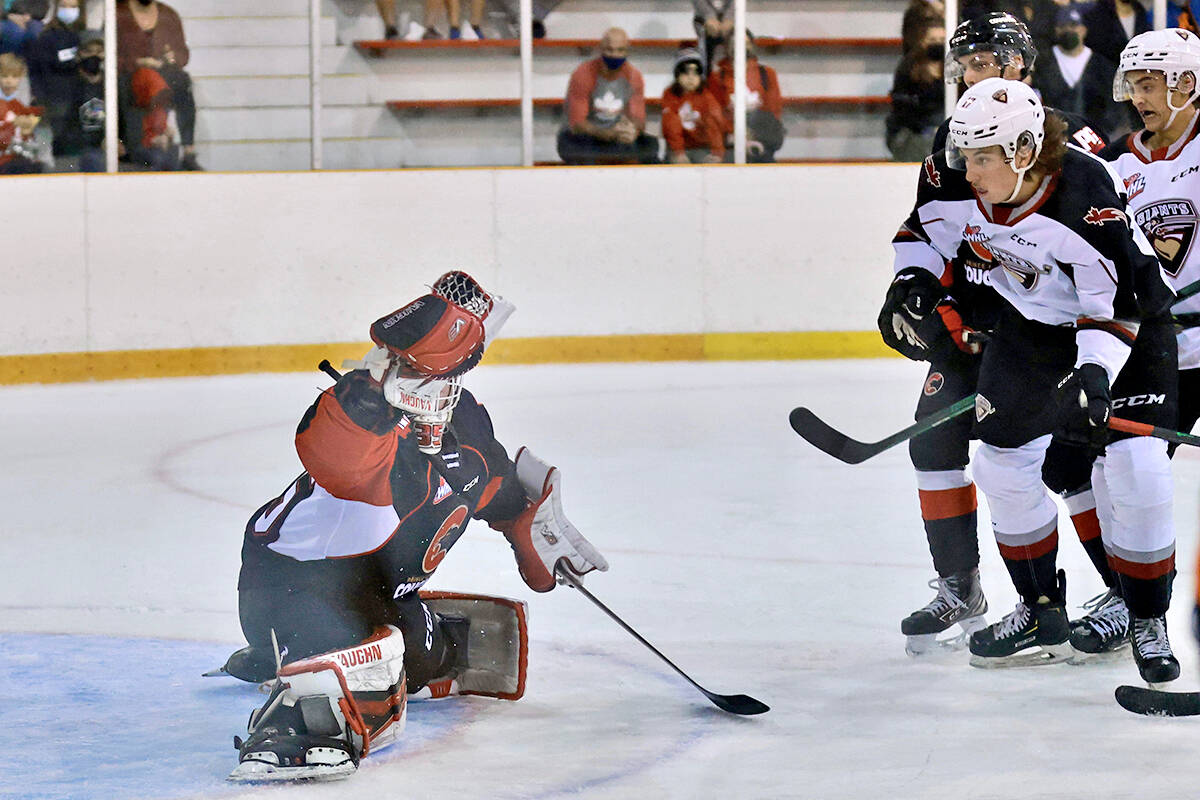 Friday night (Sept. 24) at the Cam Neely Arena in Maple Ridge, the Langley-based Vancouver Giants skated to a 3-1 victory over the visiting Prince George Cougars. (Rob Wilton/Special to Langley Advance Times)