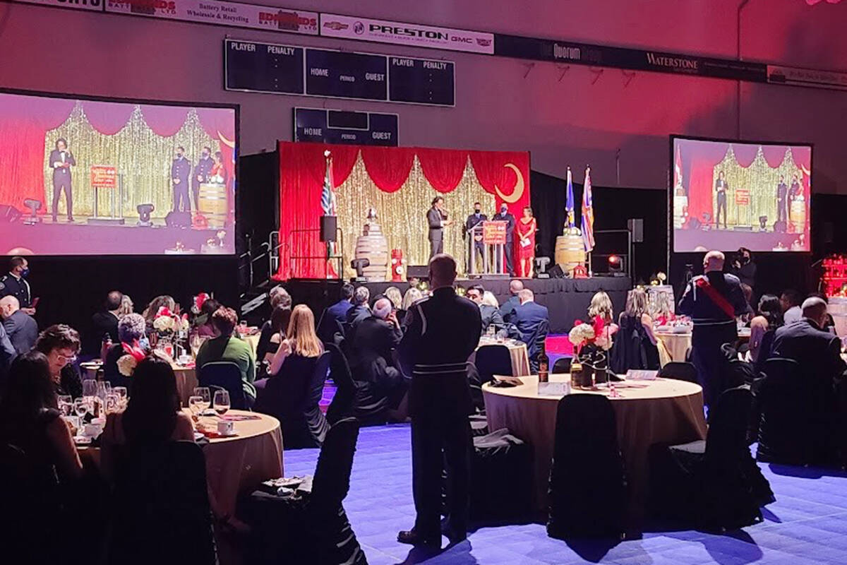 It was smaller than previous versions, but the third annual Mayor's Charitable Gala fundraiser at the Langley Events Centre Fieldhouse ended up raising more than $600,000, according to preliminary estimates of the funds raised at the Saturday, Sept. 25 event. (Brad Peters/Special to Langley Advance Times)