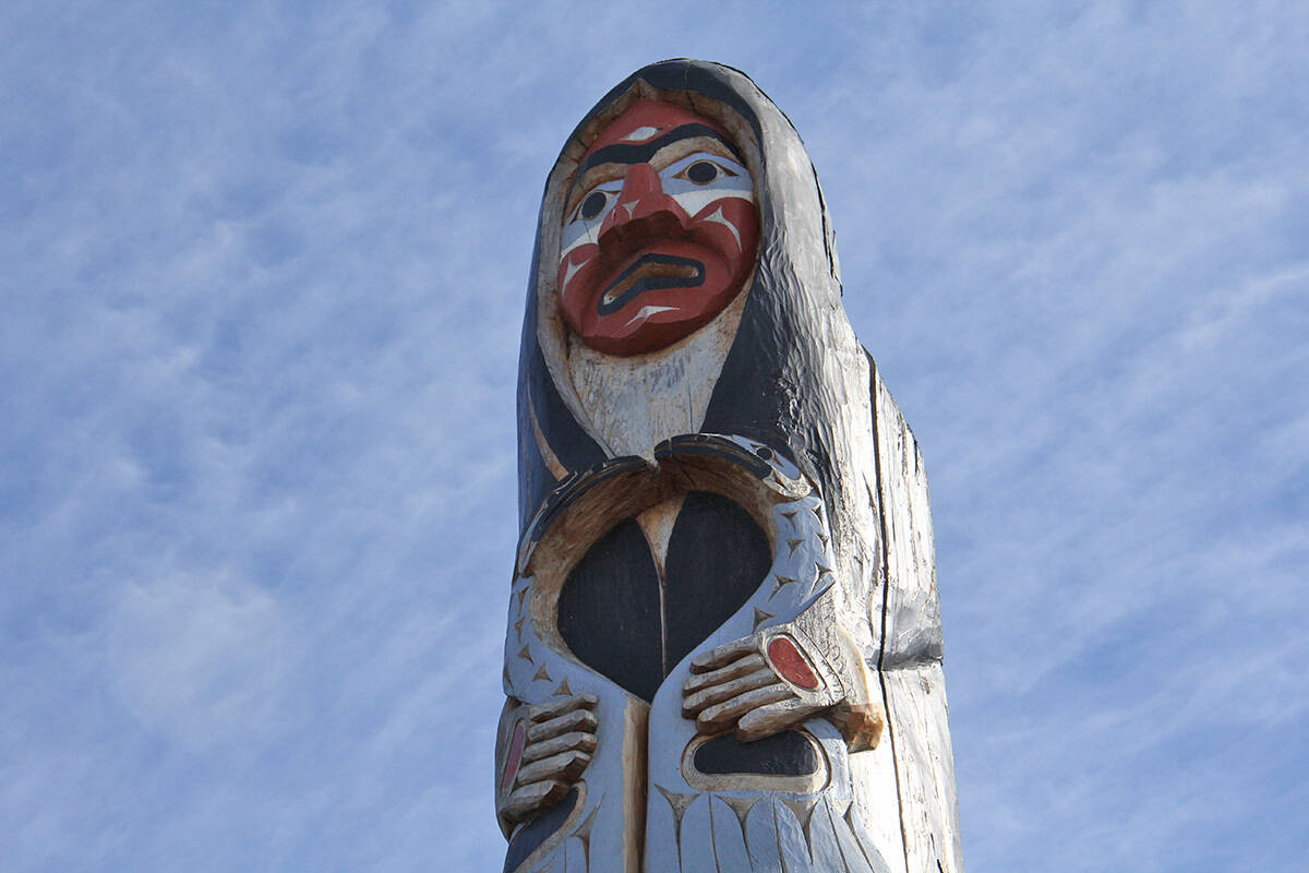 Everyone is welcome for the National Day for Truth and Reconciliation observance Sept. 30 at 10 a.m. at the Sno���uyutth Welcome Pole, in front of Oak Bay High at 2121 Cadboro Bay Rd. (Christine van Reeuwyk/News Staff)