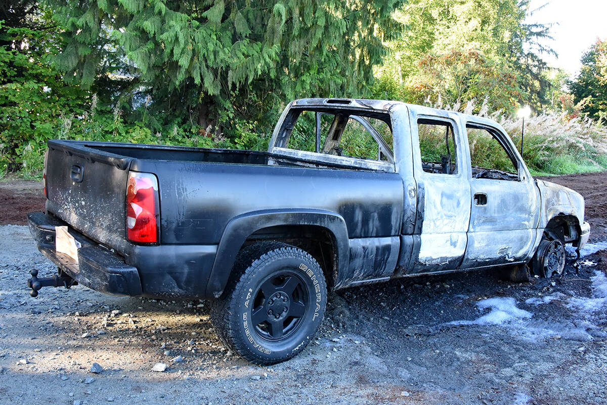 Police investigators determined the original colour of the vehicle was a matte black. (Special to The News)