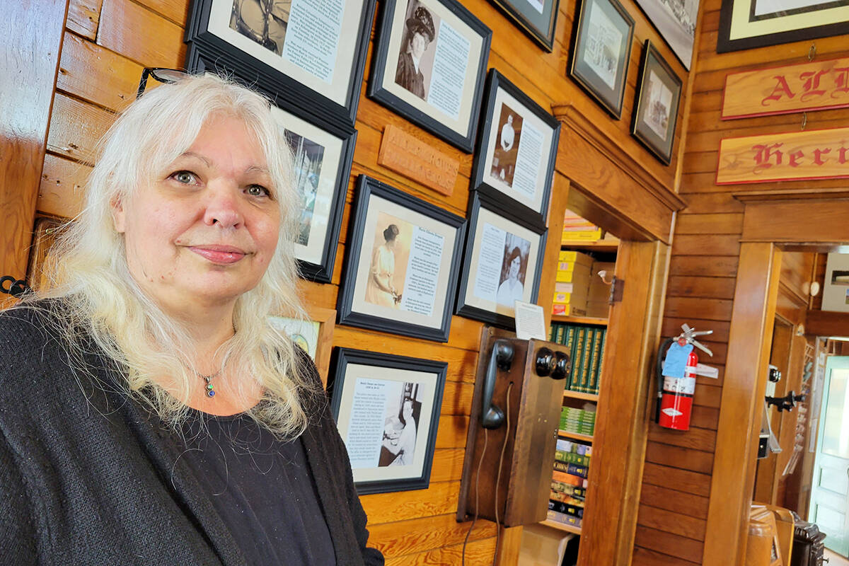 Alder Grove Heritage Society president Tami Quiring was pleased with the response to a Saturday, Sept. 25, museum open house held to mark Community Heritage Day. (Dan Ferguson/Langley Advance Times)