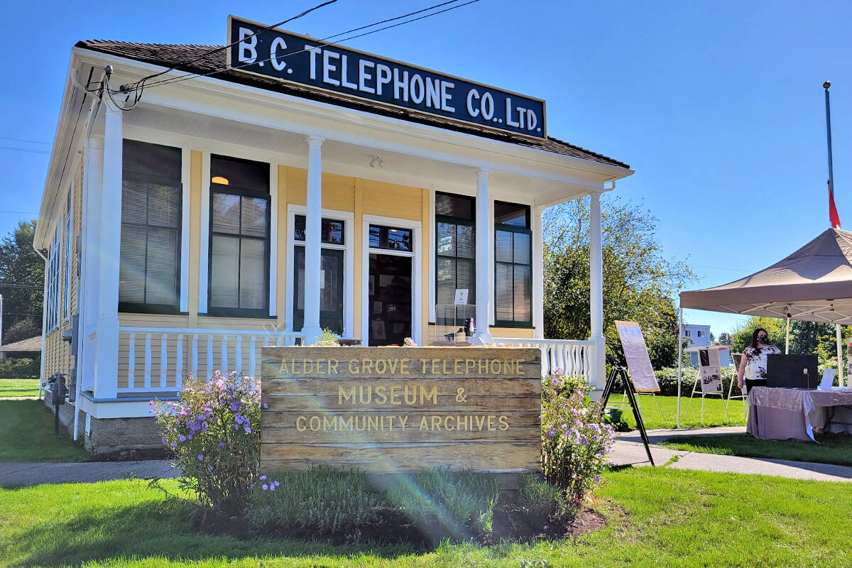 It is more than just telephones. On Saturday, Sept. 25, the Alder Grove Heritage Society museum marked Community Heritage Day with an all-day open house. (Dan Ferguson/Langley Advance Times)