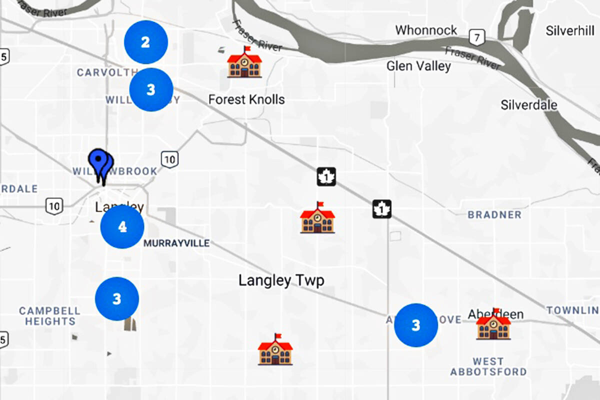 Four local schools can benefit from the Indigo Love of Reading Foundation program. (Foundation map)